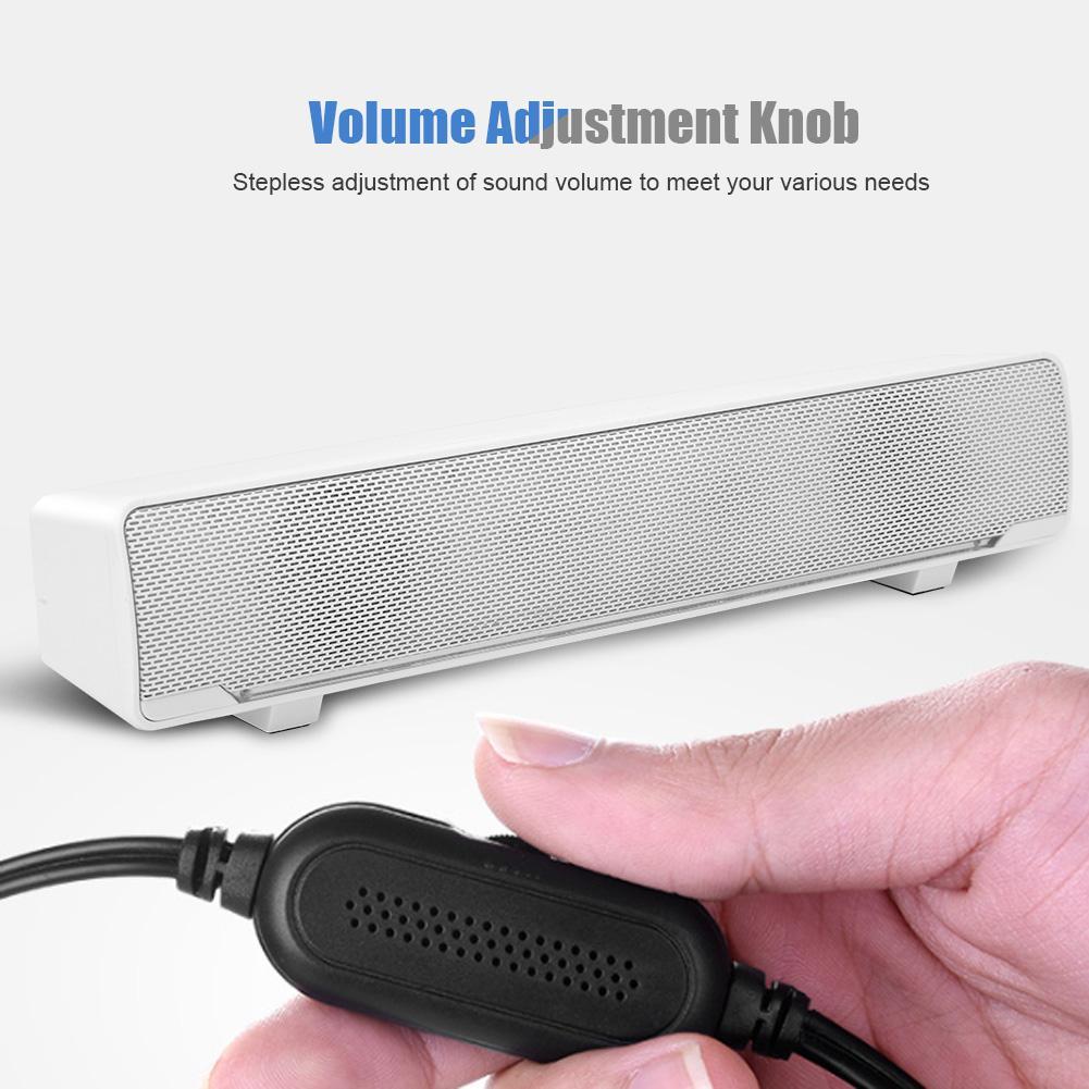 SADA V 196 USB Desktop Subwoofer Speaker 3D Surround Stereo Bass Computer Speaker Soundbar Loudspeaker For Notebook PC Phones