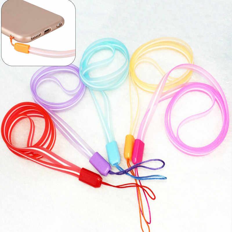 5 Warna Lanyards Leher Tali Telepon untuk ID Kartu Pass Lencana Gym Kunci/USB Pemegang DIY Hang tali Lariat Lanyard