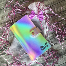 BeautyBigBang 18 Slots 6*12cm Colorful Rectangular Nail Art Plate Organizer Laser Stamping Holder Case Bag