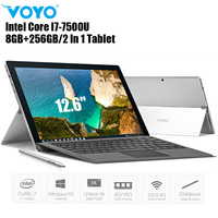 VOYO VBOOK I7 Plus 2 In 1 Tablet PC 8GB+256GB 12.6'' Windows 10 Intel Core I7 7500U 2.7GHz Dual WiFi 5MP Notebook PC Type C