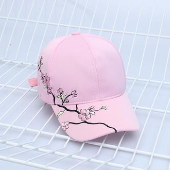 High Quality Unisex Cotton Outdoor Baseball Cap Plum embroidery Embroidery Snapback Fashion Sports Hats For Men & Women Cap 8