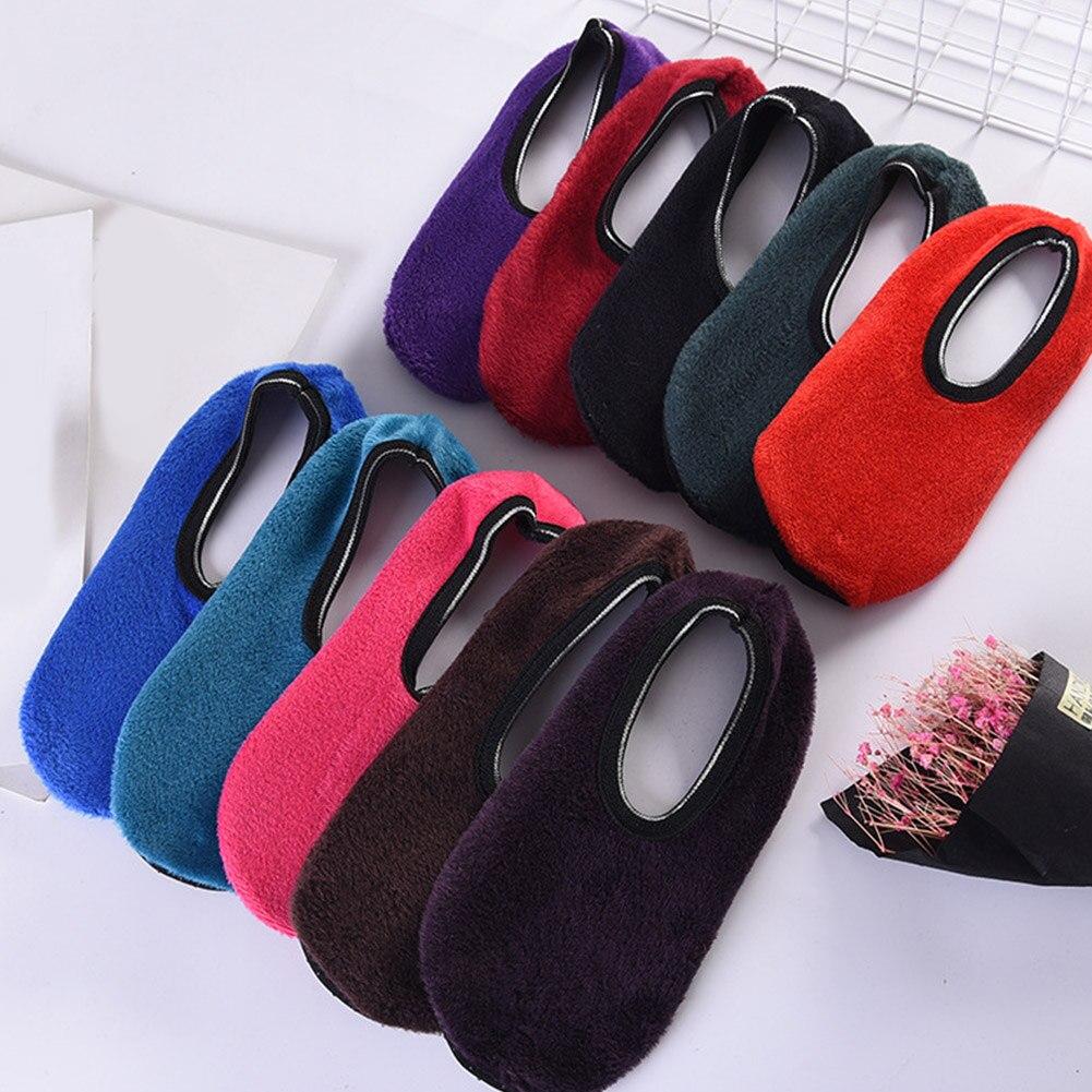 Adaptable Fashion Winter Beenwarmers Indoor Vloer Sokken Thicken Warm Antislip Korte Boot Sok Effen Vrouwen Fluwelen Vloer Sokken Thuis Sokken