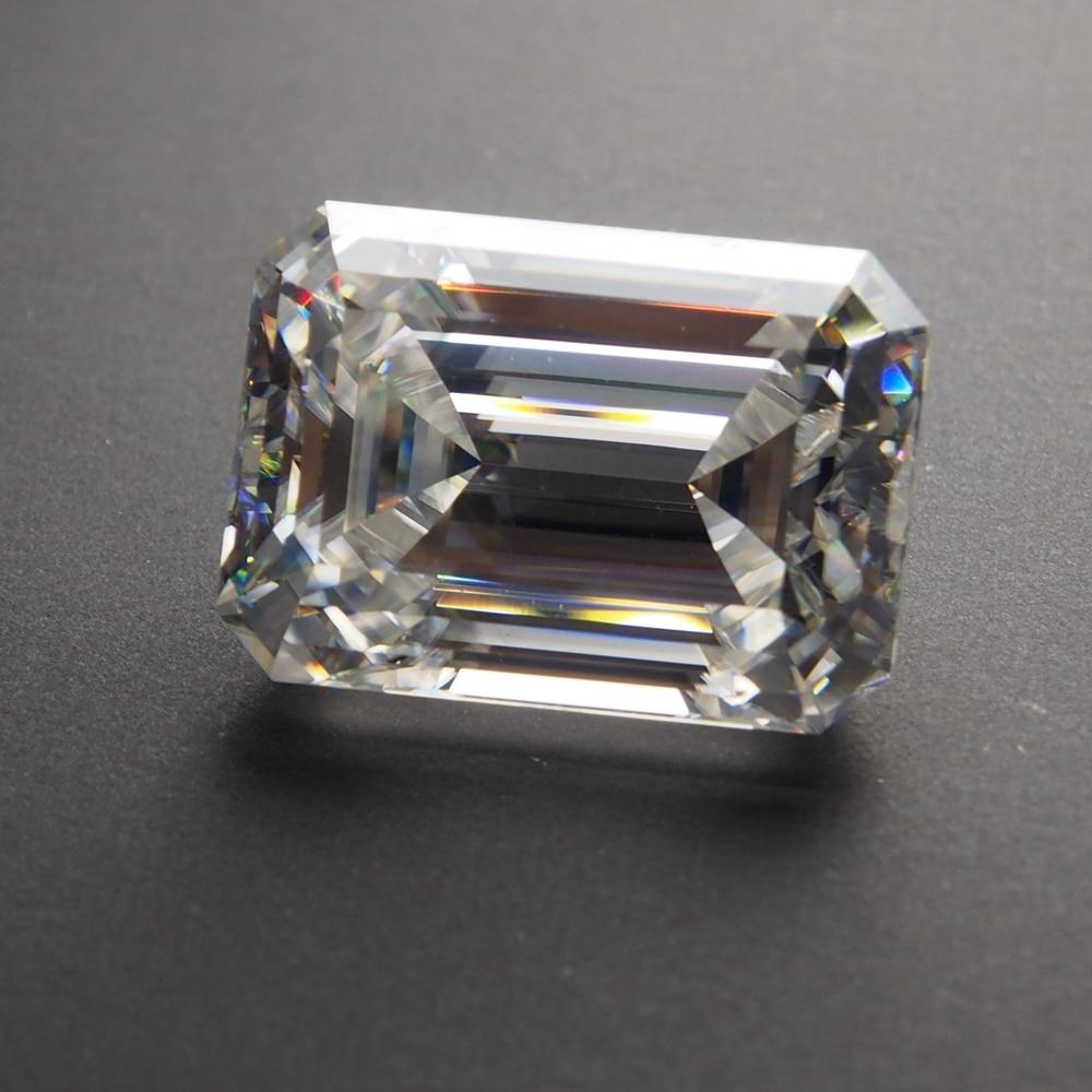 8*10mm Emerald Cut 3.17 carat White Moissanite Stone Loose Moissanite Diamond for Wedding Ring8*10mm Emerald Cut 3.17 carat White Moissanite Stone Loose Moissanite Diamond for Wedding Ring