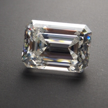 8*10mm Emerald Cut 3.17 carat White Moissanite Stone Loose Moissanite Diamond for Wedding Ring цена