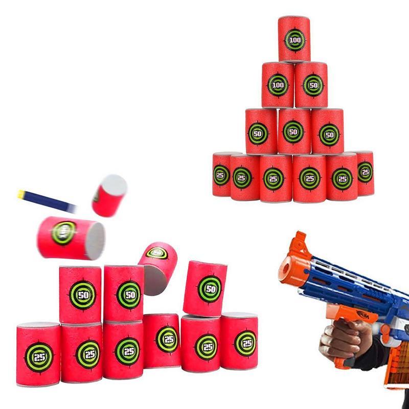 12 unids/set espuma EVA suave bala dardo Shoot diana de juguete para NERF n-strike Blasters accesorios para pistola de juguete 50/100 Uds. Pistola de aire suave ligera, balas, dardos de bala Eva para NERF n-strike Series, disparadores, Chico, pistola de juguete