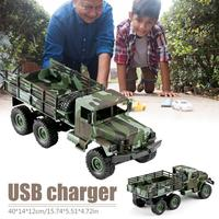 New 1:16 Military Truck Six wheel Drive Remote Control Car Toy Cool Camouflage Climbing RC Car Can Play In Wild Toy For Children