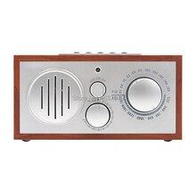Деревянный радиоприемник, радио, портативное радио