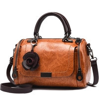 Floral Shoulder Women Bag Antique Female High Quality Pu Leather Shoulder Bags Small Cross Body Bag Casual Elegant Handbag Purse