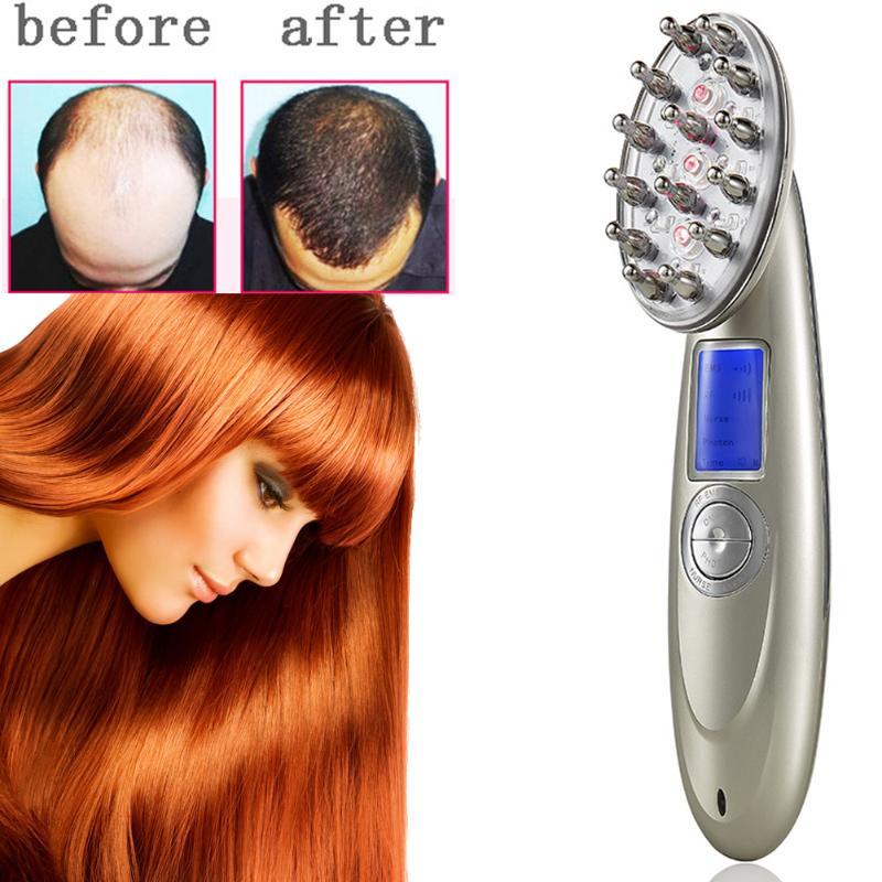 Peigne de traitement Laser Rechargeable USB recharge Laser peigne vibrant cuir chevelu Massage repousse des cheveux stimuler brosse de Massage des cheveux
