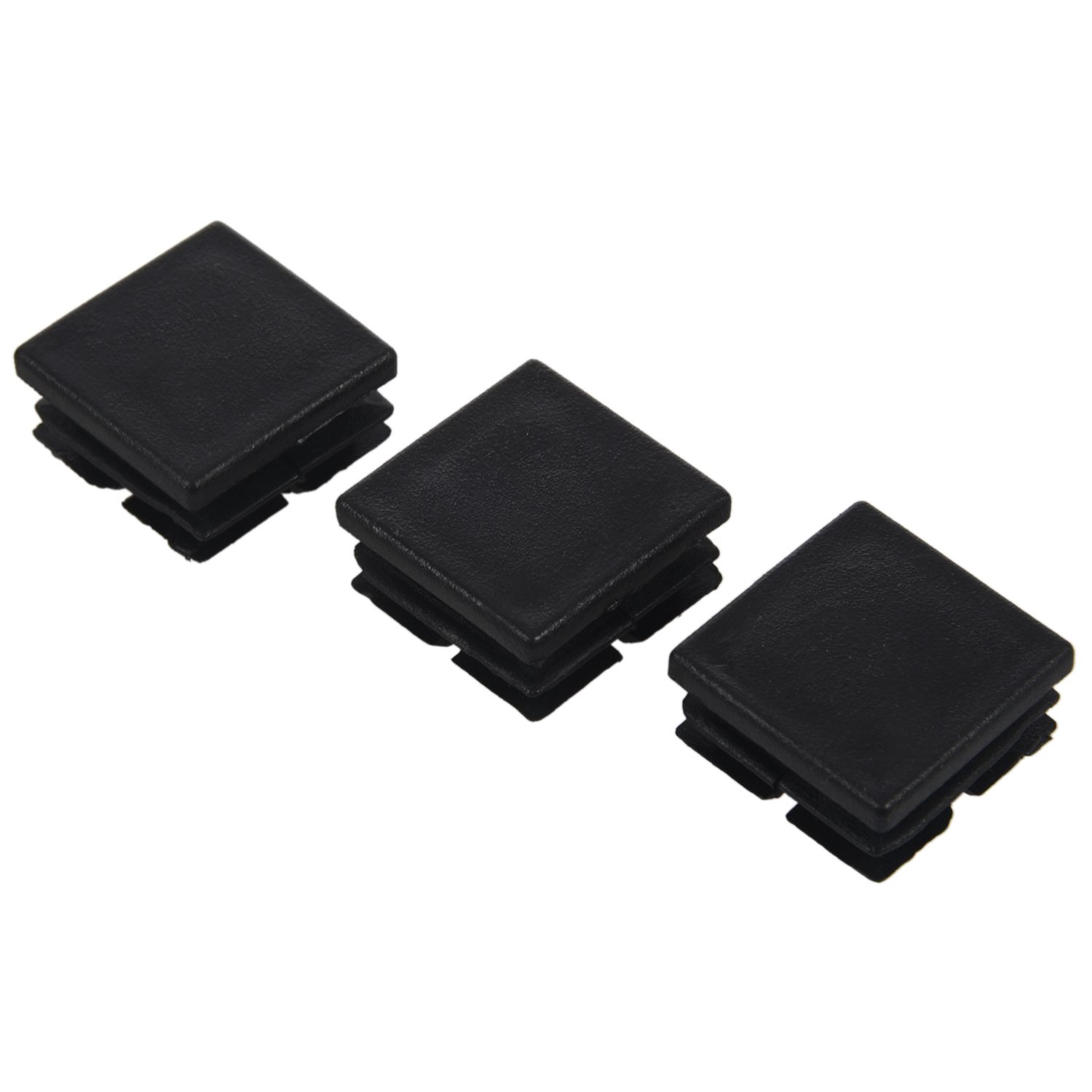 Promotion! Square Table Chair Leg Tube Pipe Feet Insert Cap 25mmx25mm 20pcs BlackPromotion! Square Table Chair Leg Tube Pipe Feet Insert Cap 25mmx25mm 20pcs Black