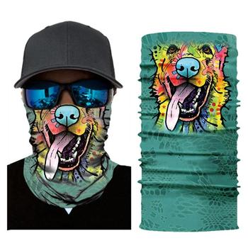 Bike Half Face Mask Skull Breathable Anti-UV 3D Aniaml Dog Tiger Windproof Cycling Skull Mask Neck Bicycle Balaclava Mask