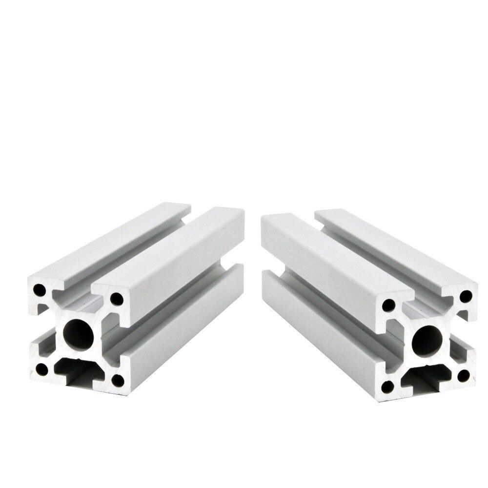 2pcs/lot 3030 Aluminum Profile  Extrusion European Standard Anodized Linear Rail Aluminum Profile 3030 DIY CNC 3D Printer Parts