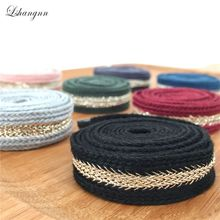 Lshangnn 9 Colors 2cm Bullion Ribbon Stiching Tape Woven With Herringbone DIY Webbing Belt Garment Accessories 10Yards