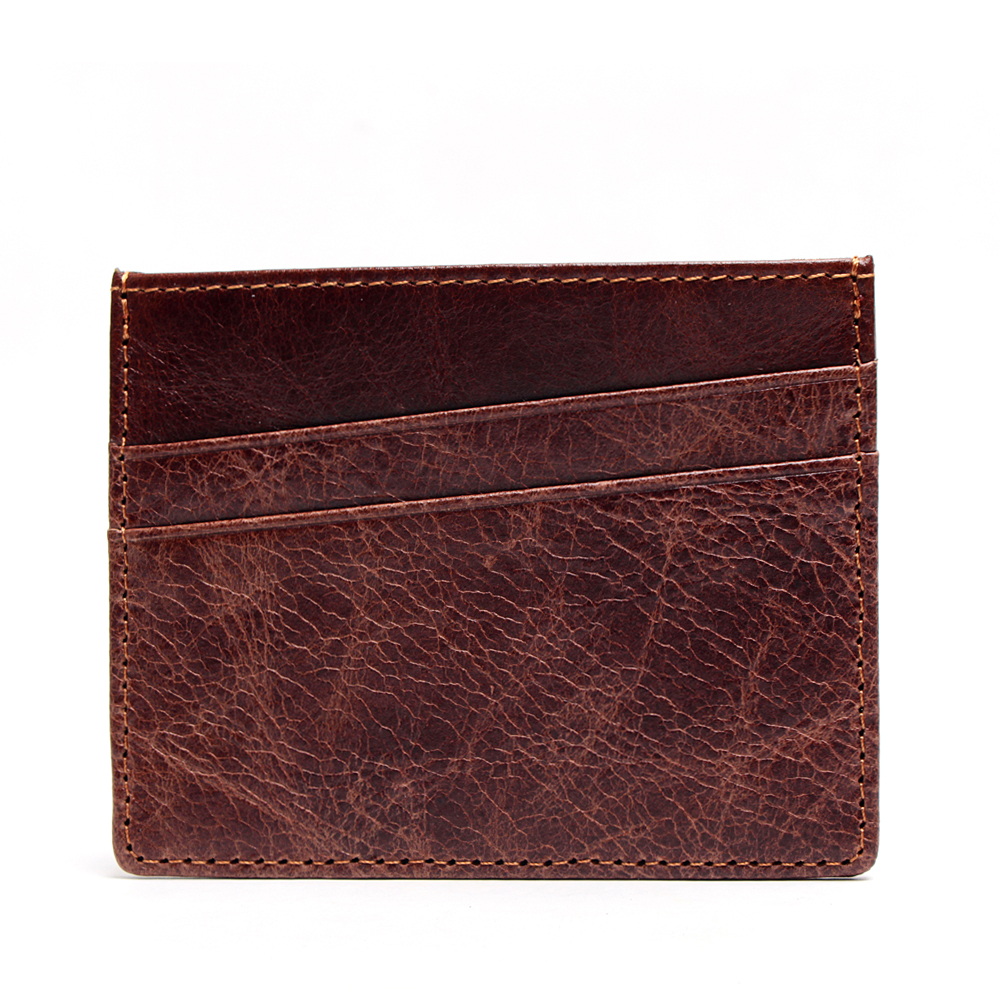 Vesna NEW Genuine Leather Magic Wallet Credit Cart Wallet Mini Slim Card Case Id Holders Man Women Business Credit Card Holder in Card ID Holders from Luggage Bags