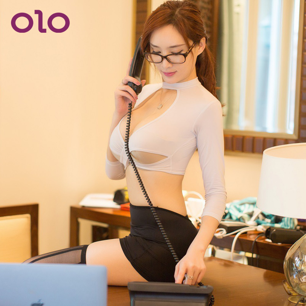 OLO Sexy Secretary Uniform Set Cosplay Role Play Clothes Cosplay Porn Costumes Sexy Nightclub Dress Adult Products image