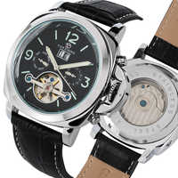 Tourbillon Men Watch Automatic Mechanlcal Wristwatch Business Mens Luxury High Light Clock With Calendar relogios masculino