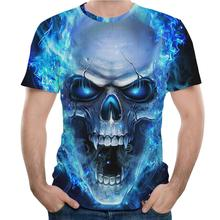 2019 Summer Men T-shirt 3D Skull Printing Round Collar Fashion hip hop streetwear tee shirt homme men clothes Tee