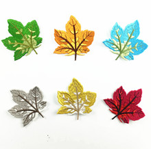 3D exquisite maple leaf embroidered cloth stickers clothes pants children cartoon patch clothing accessories wholesale