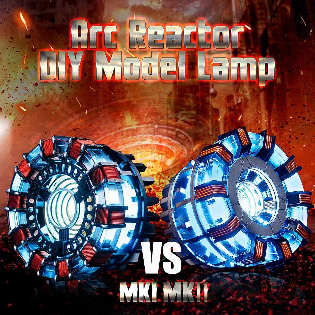 1:1 Arc réacteur MK1/MK2 bricolage modèle lumière LED marque deux télécommande lumière Arc bricolage pièces modèle assemblé jouets coffre lampe acrylique