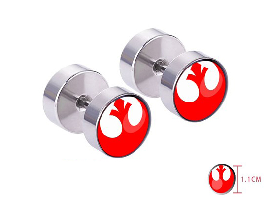 Giancomics Hot Movie Star Wars Ear Studs Stainless Steel Cute Earrings Star Wars Logo Movie Alloy Earring Jewelry Pendants Gift