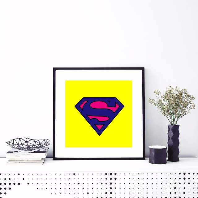 Us 5 3 35 Off Superman Logo Pop Art Canvas Art Print Painting Poster Wall Pictures For Living Room Home Decorative Bedroom Decor No Frame In