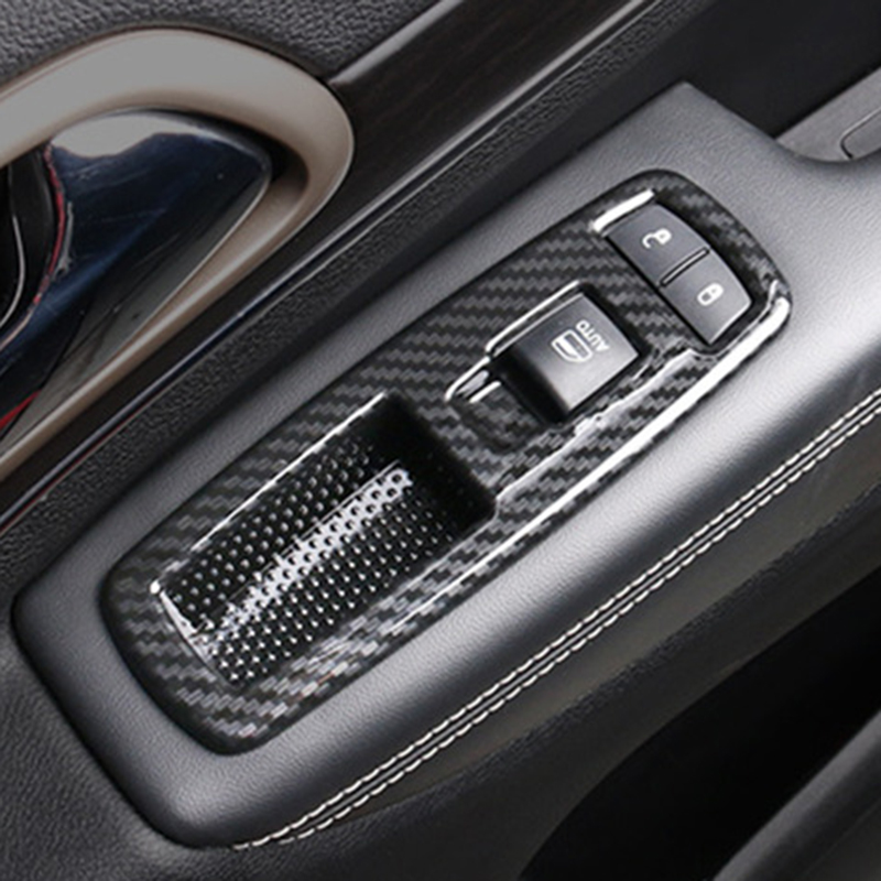 Carbon Fiber ABS Seat Switch Button Cover Trim For Jeep Grand Cherokee 2014-2018