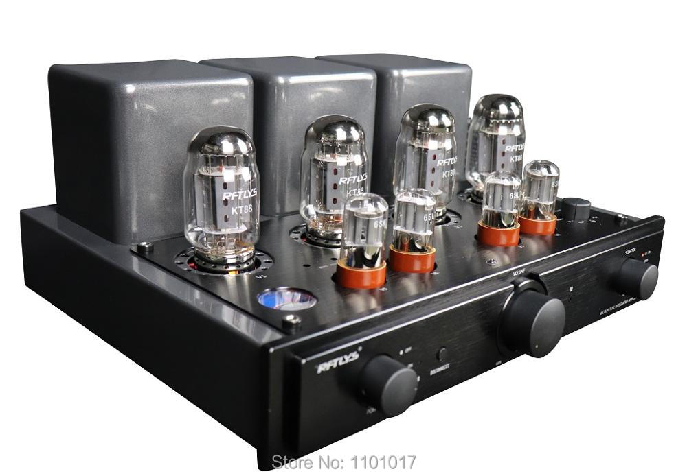 RFTLYS A5 KT88 Tube Amplifier HIFI EXQUIS Integrated Push & Pull AMP with Bluetooth  - buy with discount