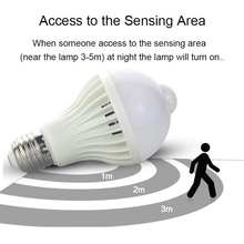 цены E27 LED PIR Motion Sensor Lamp 5W/7W/9W Super Brightness PIR Infrared Human Body Induction Lamp Bulb Hot Sale