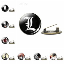 Death Note Lencana Perunggu Antik Bros Pin Yagami Light L Ryuk Ryuuku Emblem Anime Manga Bros Cosplay Hadiah Aksesoris(China)