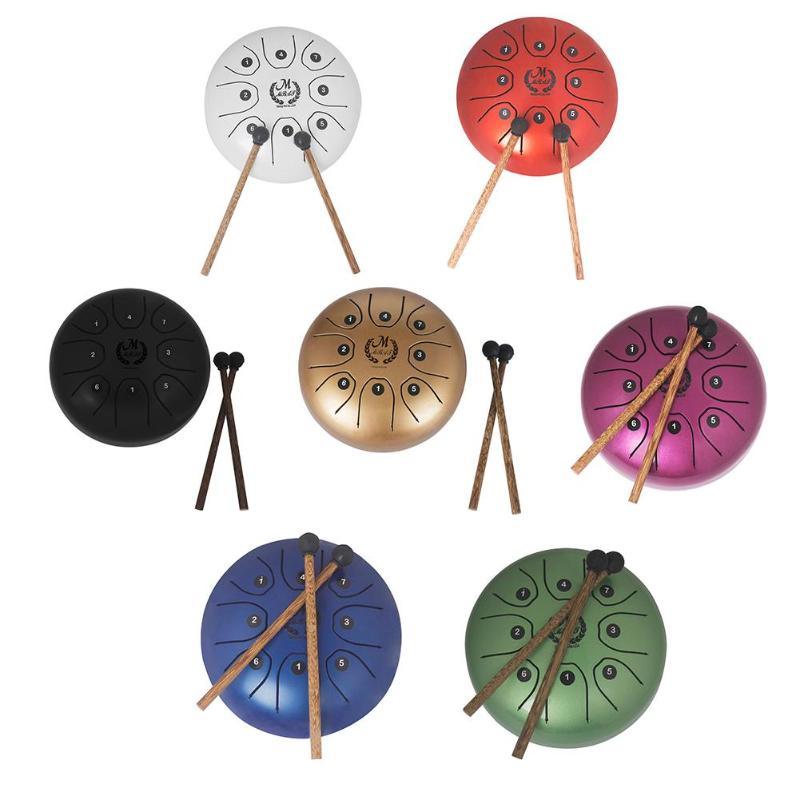 5.5 Inch Stainless Steel Tongue Drum Set Hand Pan Tank Hang Drum Percussion5.5 Inch Stainless Steel Tongue Drum Set Hand Pan Tank Hang Drum Percussion