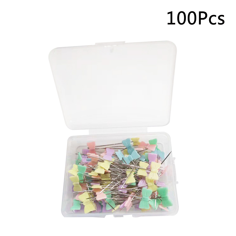 Apparel Sewing & Fabric 100pcs/lot Head Pins Straight Cute Quilting Decorative Button Head Pins Flat Head Pins Sewing Head Pins For Crafts Diy Projects Jade White