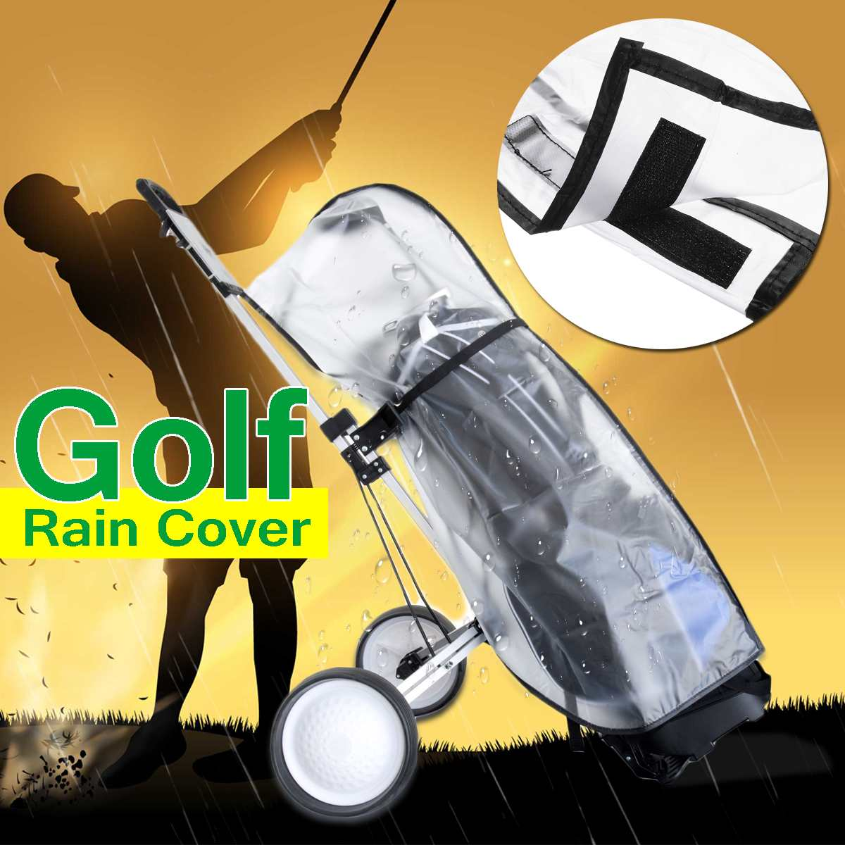 Protector Shield Golf-Bag Standard-Ball Transparent Dustproof Outdoor Rod PVC Store Anti-Dust