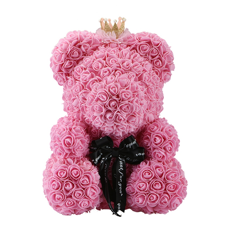 Rose Bear Toys Women Girls Flower Birthday Party Valentine Wedding Romantic Doll Gifts 18styles 2019 Valentines Day Present Artificial & Dried Flowers