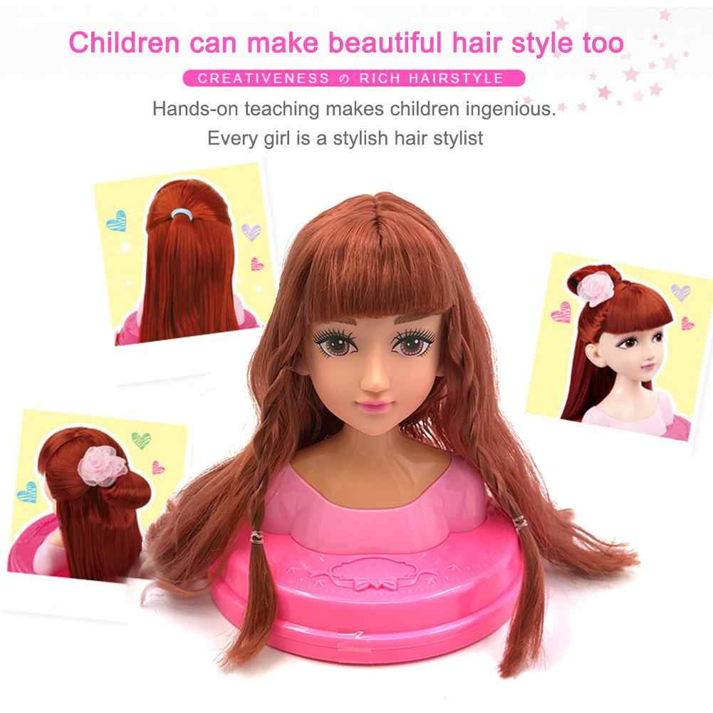 Children's Dressing Makeup Simulation Dolls Girls Play House Toys Girls Dress Up Combs Hair Braiding Dresser Toys With Gift Box