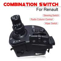 Wiper Radio Steering Column Combination Car Switch For Renault Clio Kangoo Modus 8201590631 Auto Replacement Switches Parts