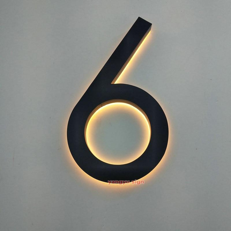Número de dirección de números de Casa iluminados led 3D de