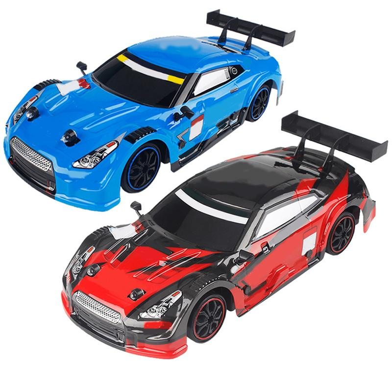 1/16 Scale Four Wheel Drive RC Car Children Remote Control Drift Car Toy Model Gift USB Charging Off Road Racing GTR Game Toys