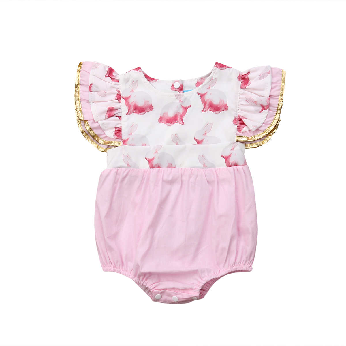 83a59d3e4c7f Detail Feedback Questions about Toddler Newborn Baby Girl Bunny Romper  Summer Ruffles Short Sleeve Infant Girl Sunsuit Jumpsuit Easter Baby Girl  Clothes on ...