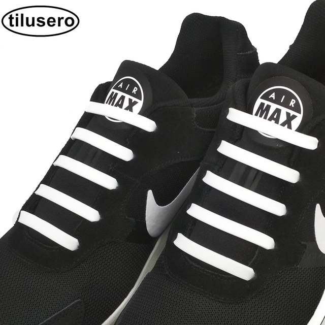 4e2cbec805c34 12 قطعة جديد أربطة الحذاء كسول مرونة سيليكون أربطة الحذاء لا التعادل رياضة  الجري سلاسل أربطة