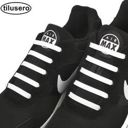 12 шт Новый шнурки ленивый эластичные силиконовые шнурки без галстука струны бег кроссовки шнурки F002