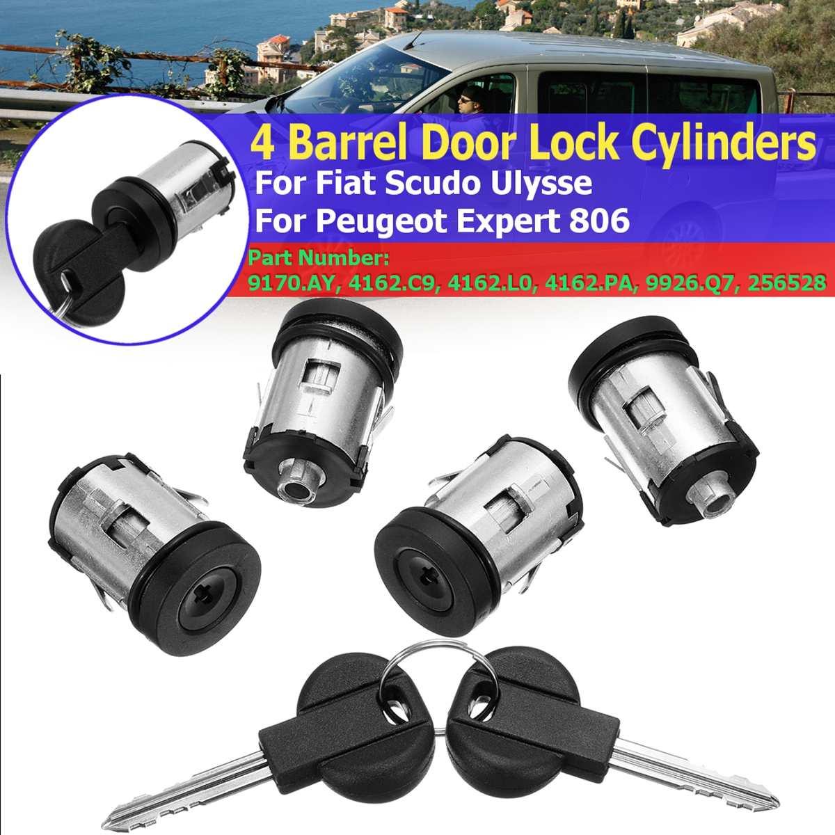 9170.AY 4162.C9 Car Barrel Door Locks Keys Set For Fiat Scudo For Citroen Dispatch Synergie Xantia Xm Expert For Peugeot 806