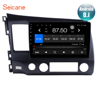 Seicane 10.1 inch HD 1024*600 Android 8.1 Car GPS Navigation Radio Multimedia Player for 2006 2011 Honda Civic with Bluetooth
