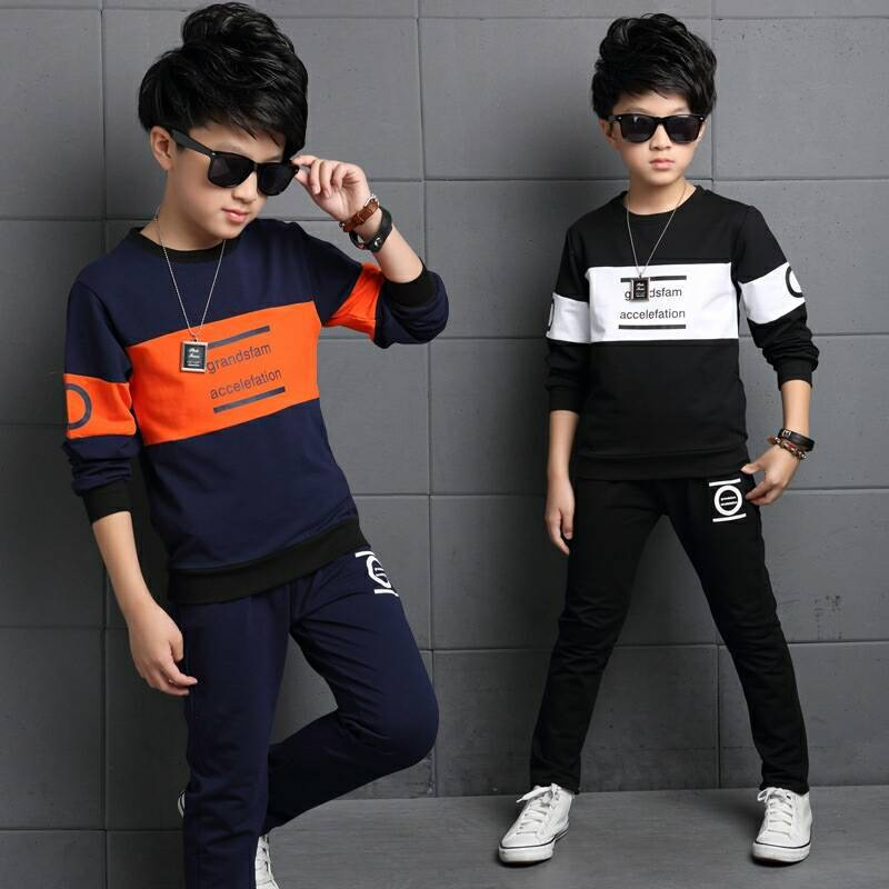 Children's Clothes Sets Spring  Autumn 2Pc Suits New Kids Suits For Boys And Girls Long Sleeve Shirt+pan Sports Suits 3-12 Ages