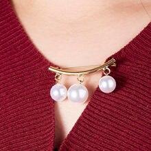Rinhoo – épingle fixe antidérapante, 1 pièce, broche coréenne Simple en perles, breloque pour robe Cardigan, accessoires de port, cadeau de bijoux en émail