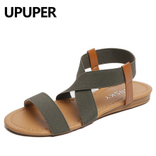 UPUPER Plus Size 35-41 Summer Women Sandals Concise Style Elastic Band Beach