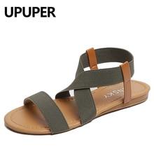 UPUPER Plus Size 35-41 Summer Women Sandals Concise Style Elastic Band Beach