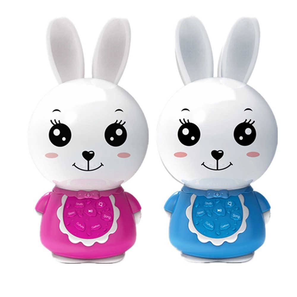 NEW MP3 Music Player Story Teller Sleep Soother Cute Bunny Musical Toy  Learning Machine Night Light Educational Toys 8G TF Card
