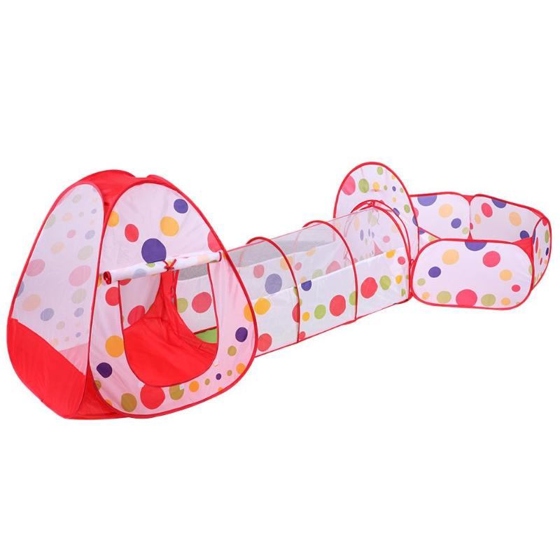 Children Tent House Playing Toy Baby Play Tent Ball Ocean Pool Pit Kids Outdoor Fun Sports Toys Foldable Pipeline Crawling Tube
