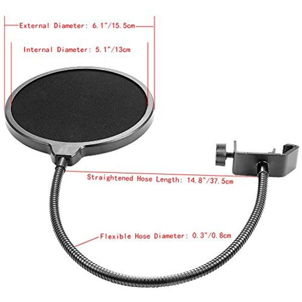 Unterhaltungselektronik Nb-35 Mikrofon Suspension Arm Ständer Clip Halter Und Tisch Montage Clamp Pop Filter Windschutz Maske Schild Clip Kit