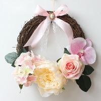 DIY artificial flowers garland rose wreath home wedding garden party decor wreath fake flower hanging door Christmas flores gift